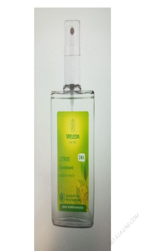 WELEDA, CITRUS DEODORANT, 3.4 FL OZ -100 ML