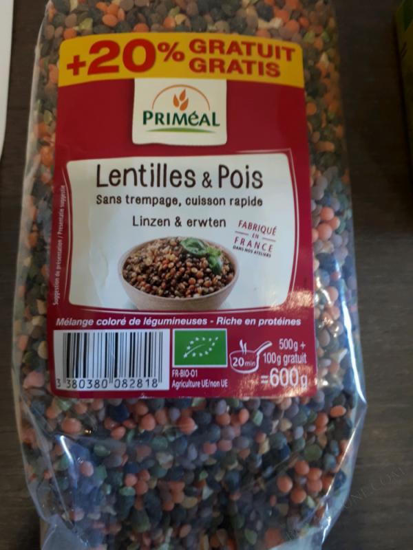 LENTILLES ET PLUS - 600G