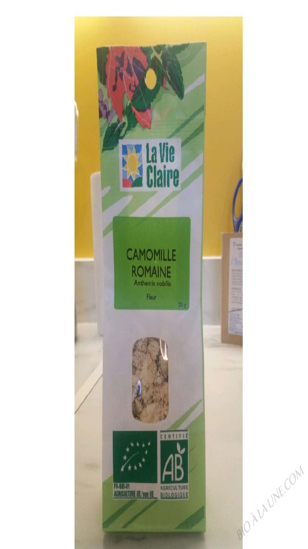 Organic chamomile (flowers), La Vie Claire - 20g
