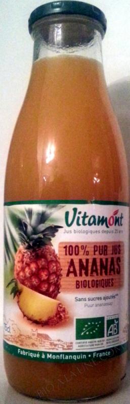 Pur Jus d'Ananas Bio 75cL