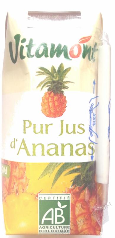 Tetra Pak Pur Jus d'Ananas Bio 20cL