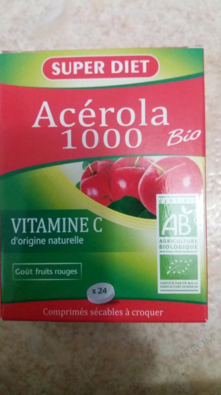 ACÉROLA 1000 BIO - 24 COMPRIMÉS