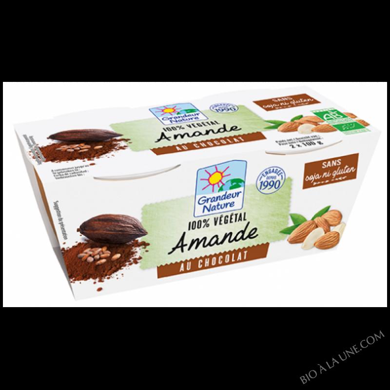 CRÈME VÉGÉTALE AMANDE CHOCOLAT - 2X100G