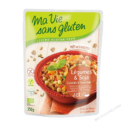 LÉGUMES & SOJA CUISINÉS À L′ORIENTALE - 250G