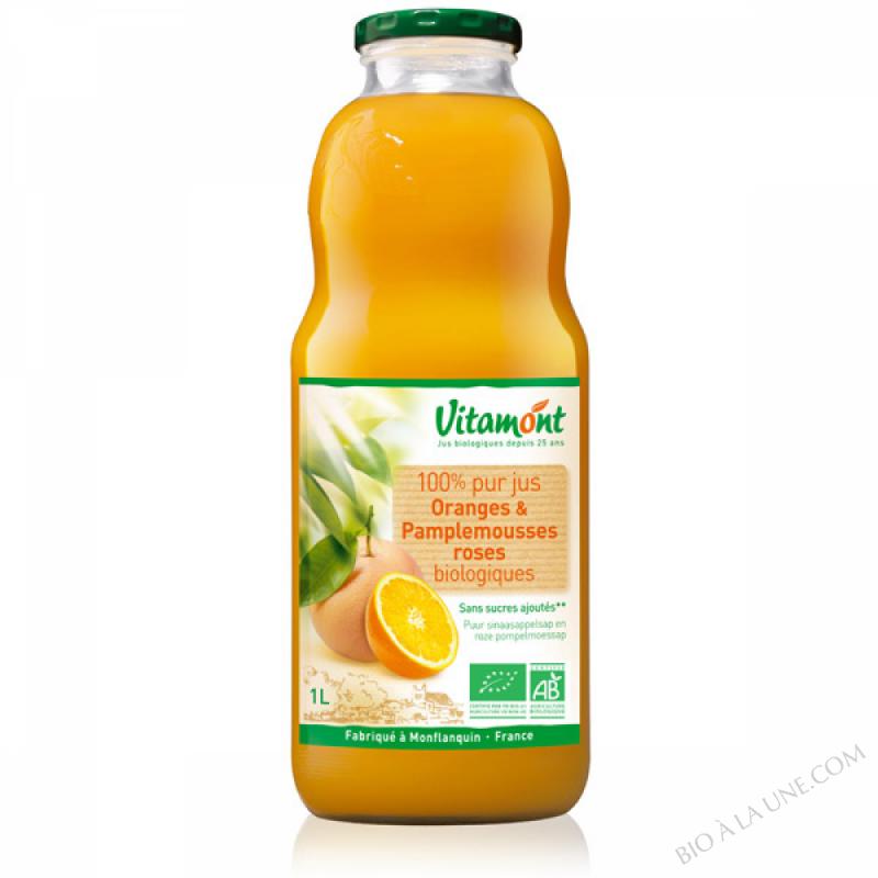 Pur Jus Oranges Pamplemousses Bio 1L