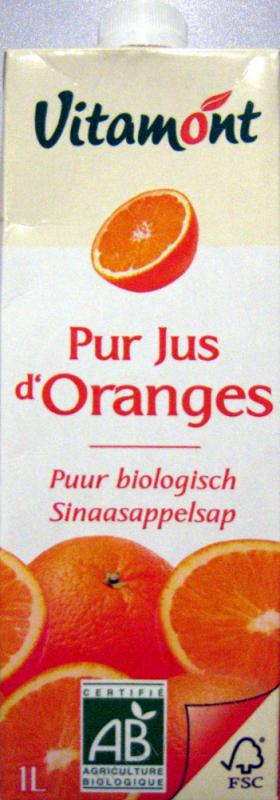 Tetra Pak Pur Jus d'Orange Bio 1L