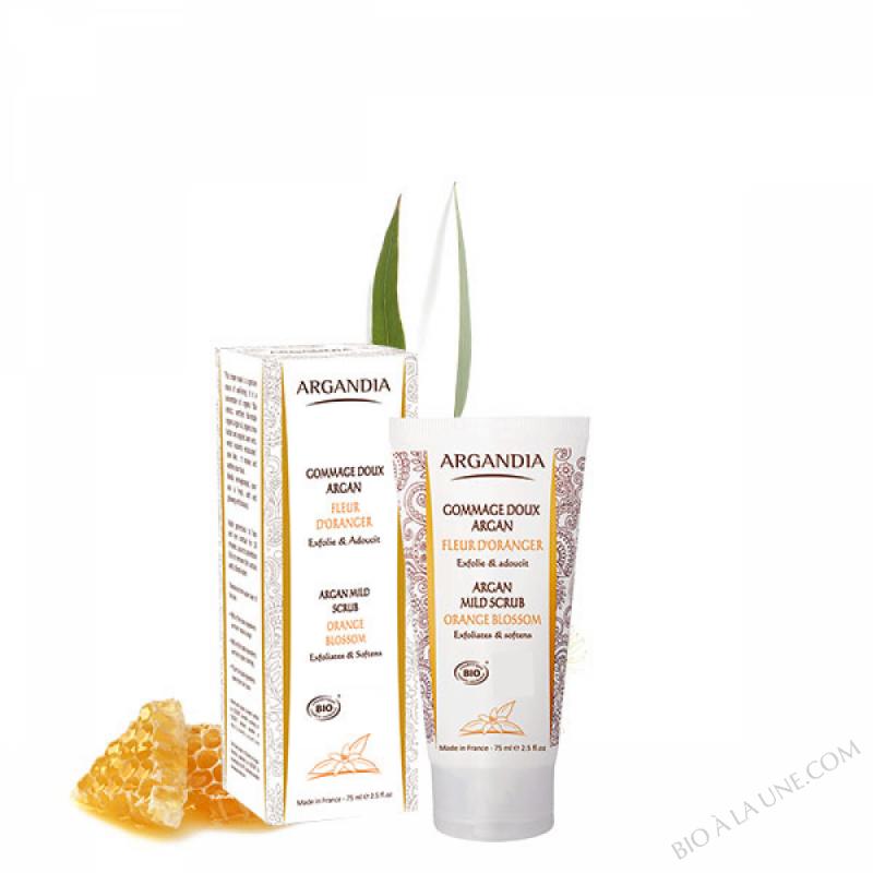 Gommage Doux Argan Visage Fleur d'Oranger - 75 ml