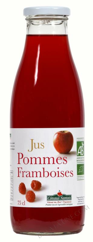 Jus pommes framboises Bio 75cl