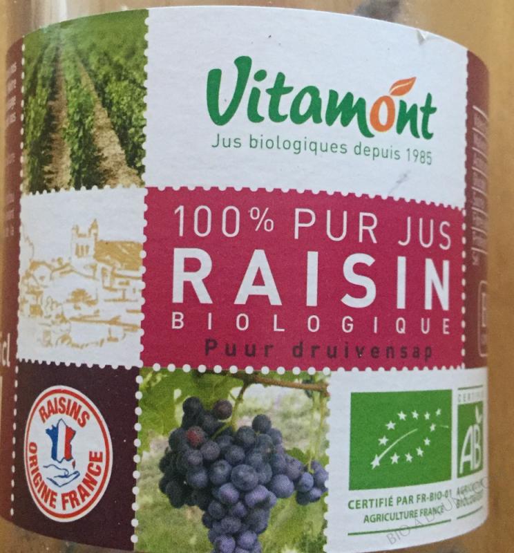 100% pur jus raisin biologique- 25 cl