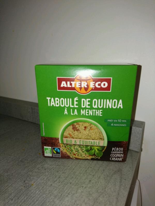 TABOULÉ AU QUINOA/À LA MENTHE BIO - 250 G