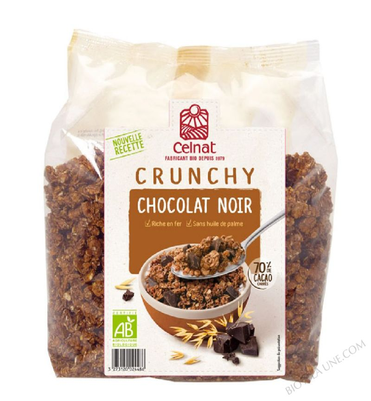 CELNAT Crunchy Chocolat Noir BIO - 500g