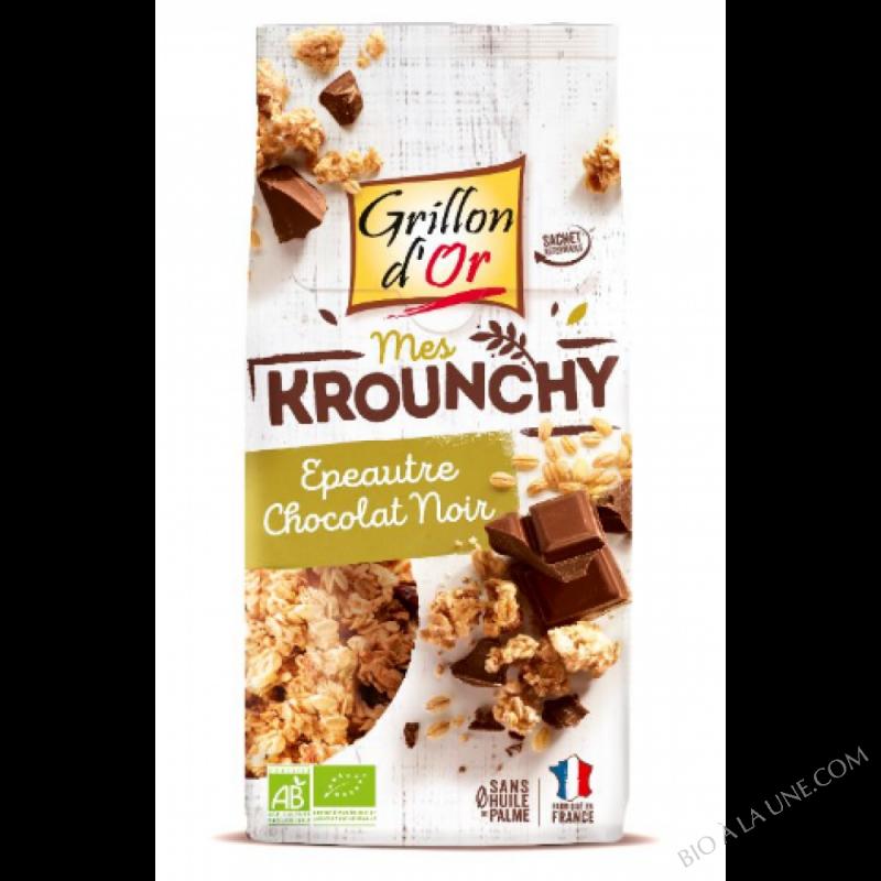 Krounchy epeautre - chocolat noir 500g