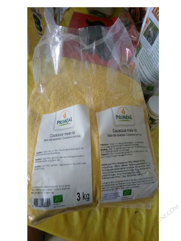 Couscous Maïs Riz 3 Kg