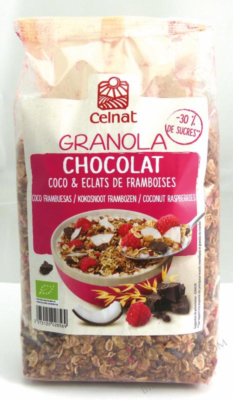 Granola Chocolat, Coco & éclats De Framboises 375g