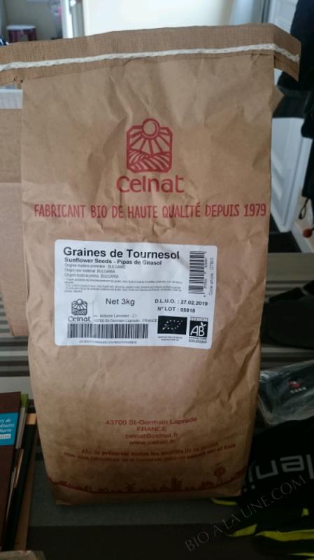 Graines De Tournesol Bio 3kg