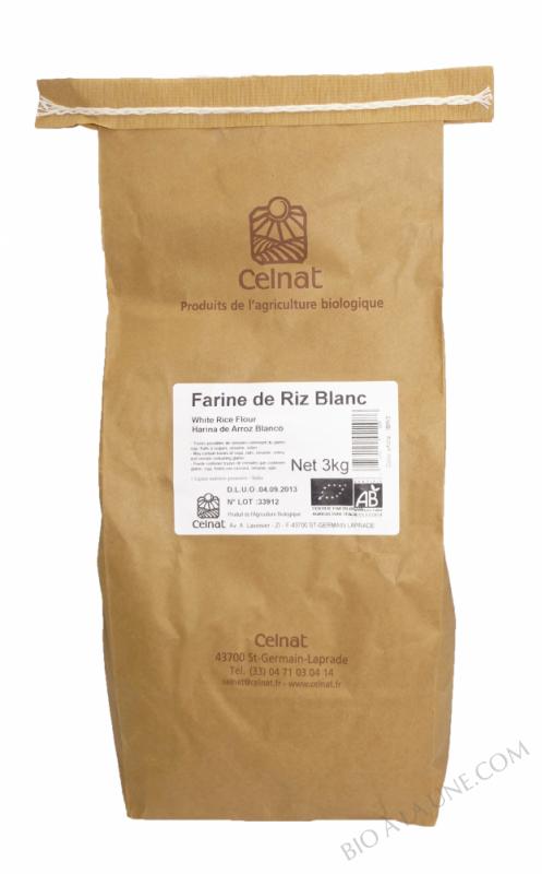 CELNAT Farine de Riz blanc BIO - 3KG