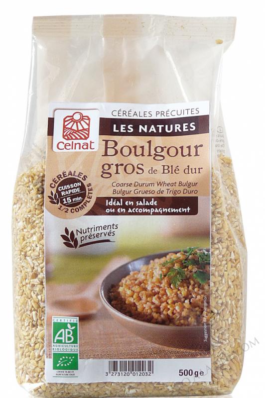 CELNAT Boulgour gros de blé dur demi-complet BIO - 3KG