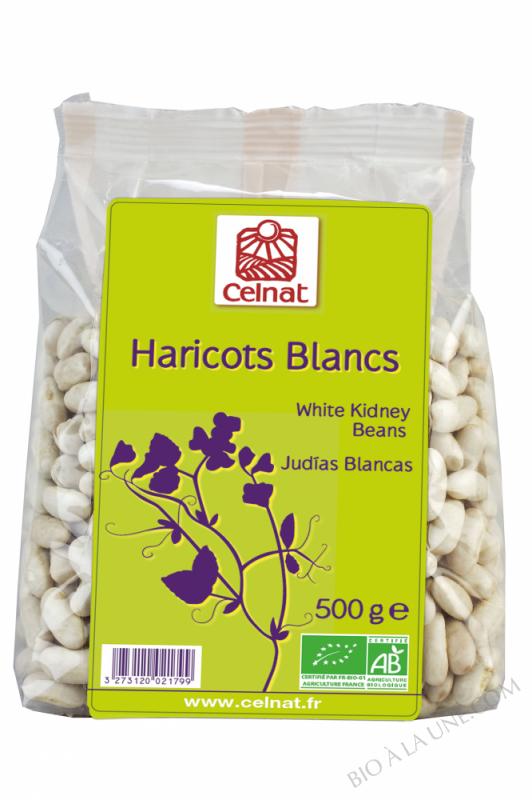 CELNAT Haricots Blancs  Origine France BIO - 500g