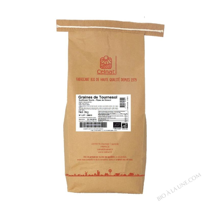 CELNAT Graines de Tournesol BIO - 3KG