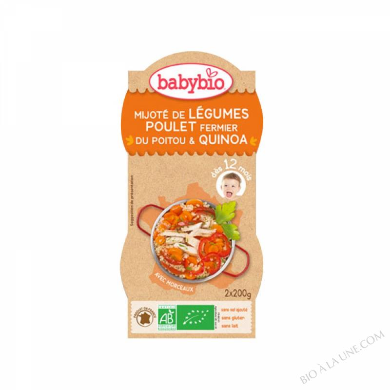 2 Bols Legumes Poulet Quinoa 12 mois
