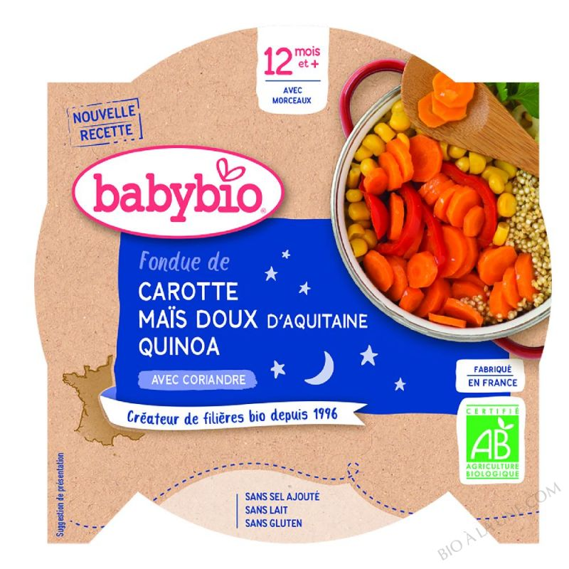 Assiette Bebe Legumes quinoa dès 12 mois