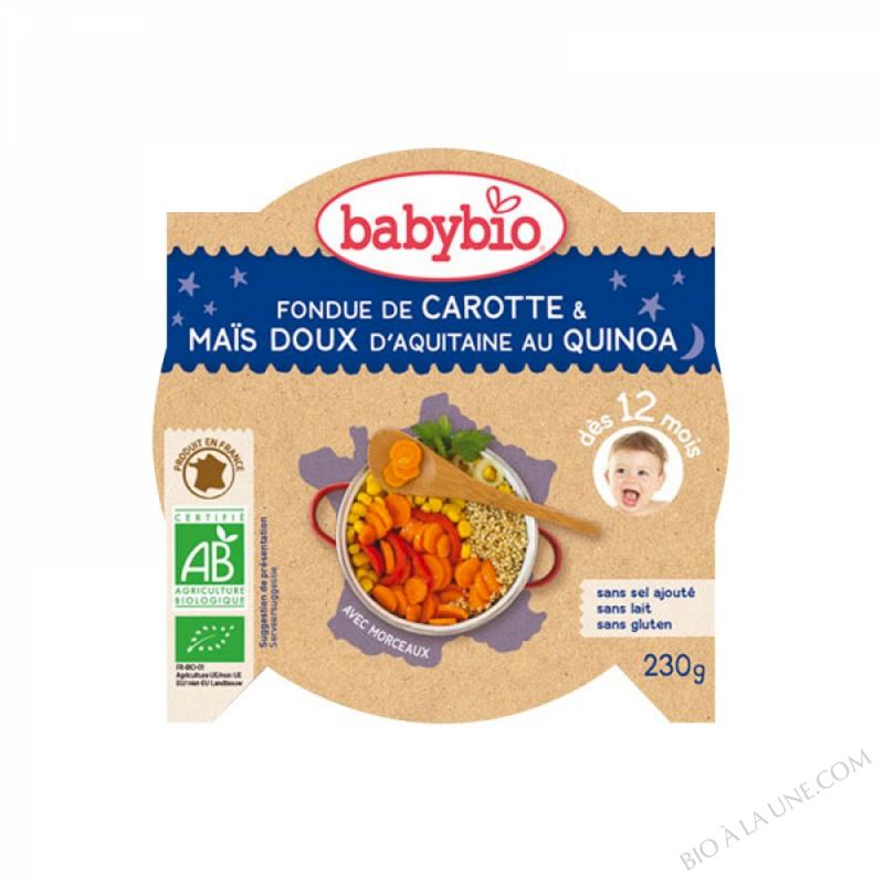 BABYBIO Assiette Bonne Nuit Légumes Quinoa Coriandre