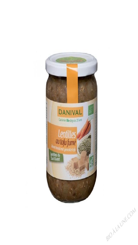 LENTILLES TOFU FUME 525G DANIVAL