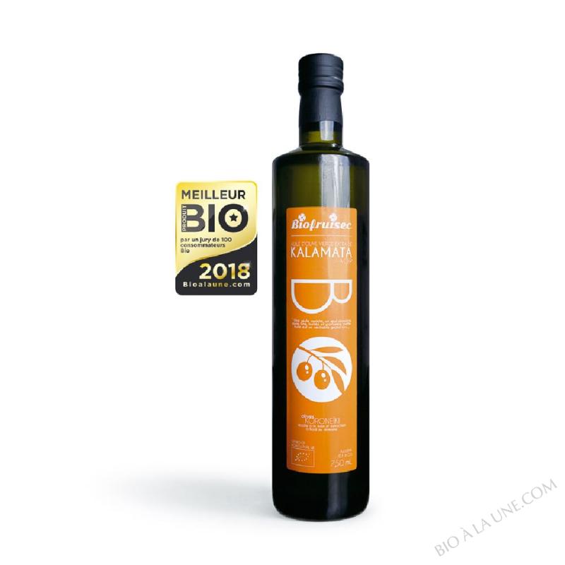 Huile d'olive Koronéïki de Kalamata AOP vierge Extra grand cru | Bouteille 0,75 L