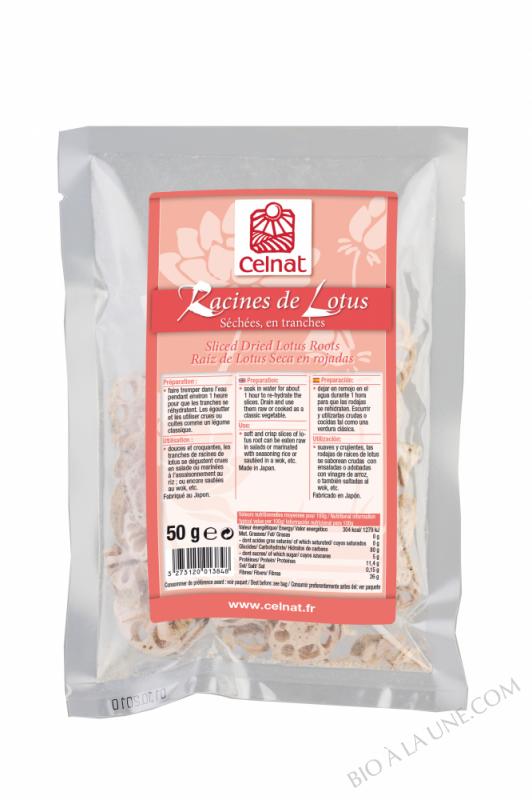 CELNAT Racines de Lotus (séchées, en tranches) - 50g