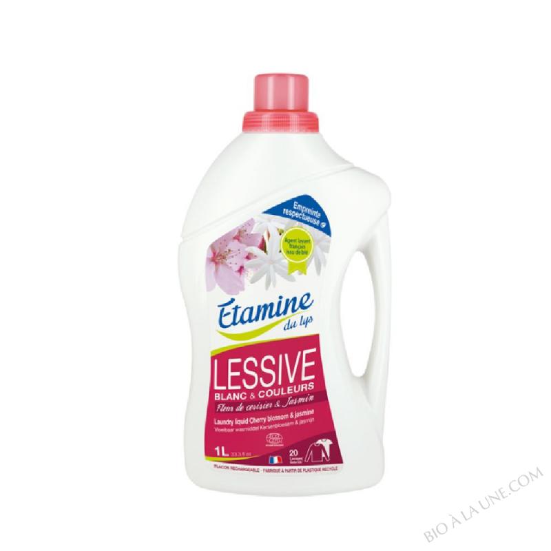 Lessive liquide fleur de cerisier & jasmin 1L