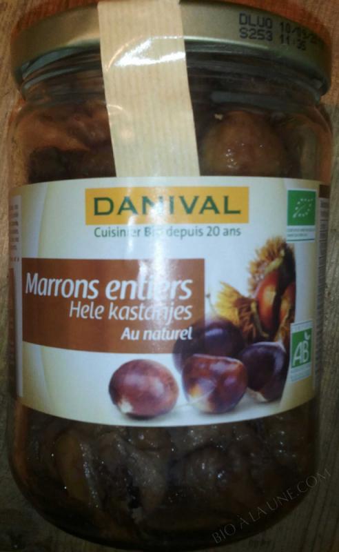 MARRONS ENTIERS NATURELS 320G DANIVAL