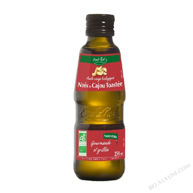 Huile vierge de noix de cajou toastée bio - 250ml