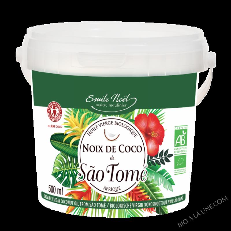 Huile vierge de noix de coco Sao Tomé bio - 500ml