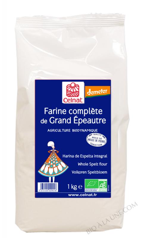 CELNAT Farine complète de Grand épautre - 1 kg