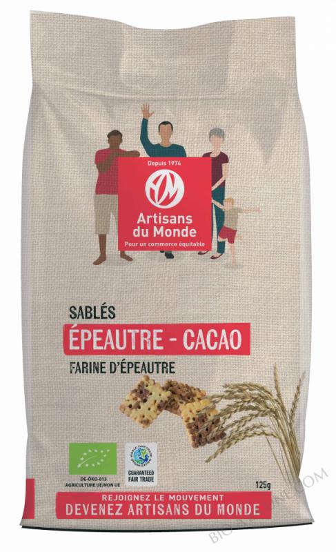 Sablés épeautre et cacao - 125 g
