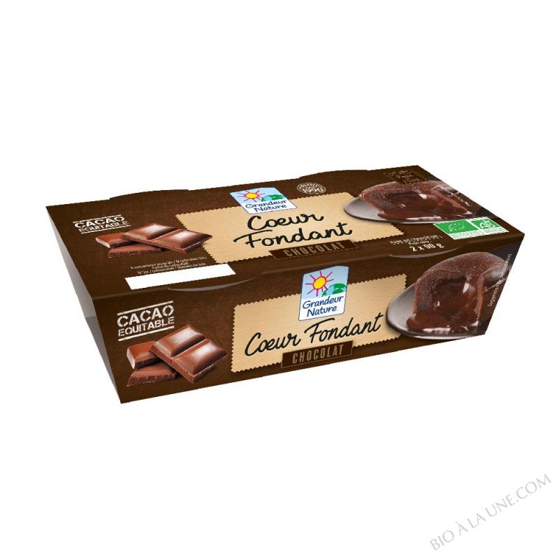Coeur fondant au chocolat équitable 2x90g