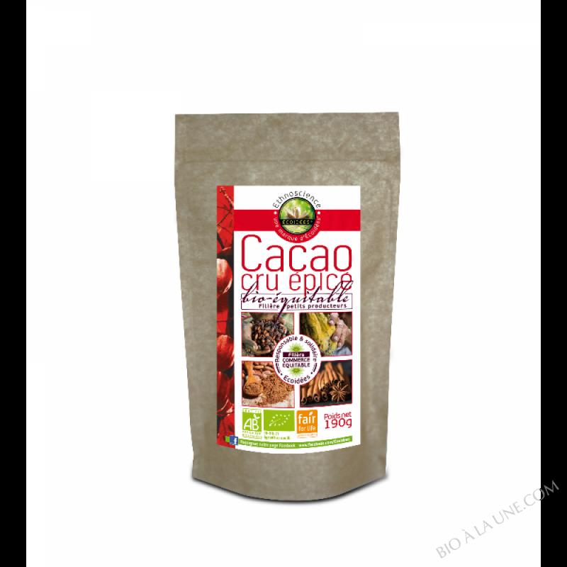 Cacao cru épicé bio-équitable 190g