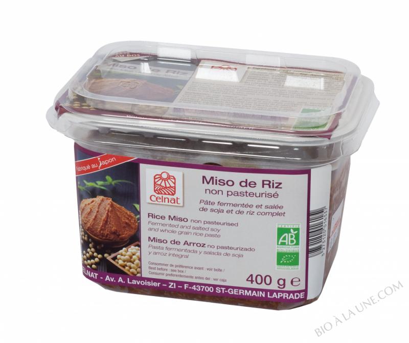 CELNAT Miso de Riz non pasteurisé BIO - 400g