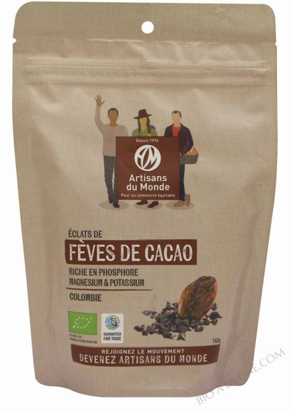 Eclats de fèves de cacao - 140g