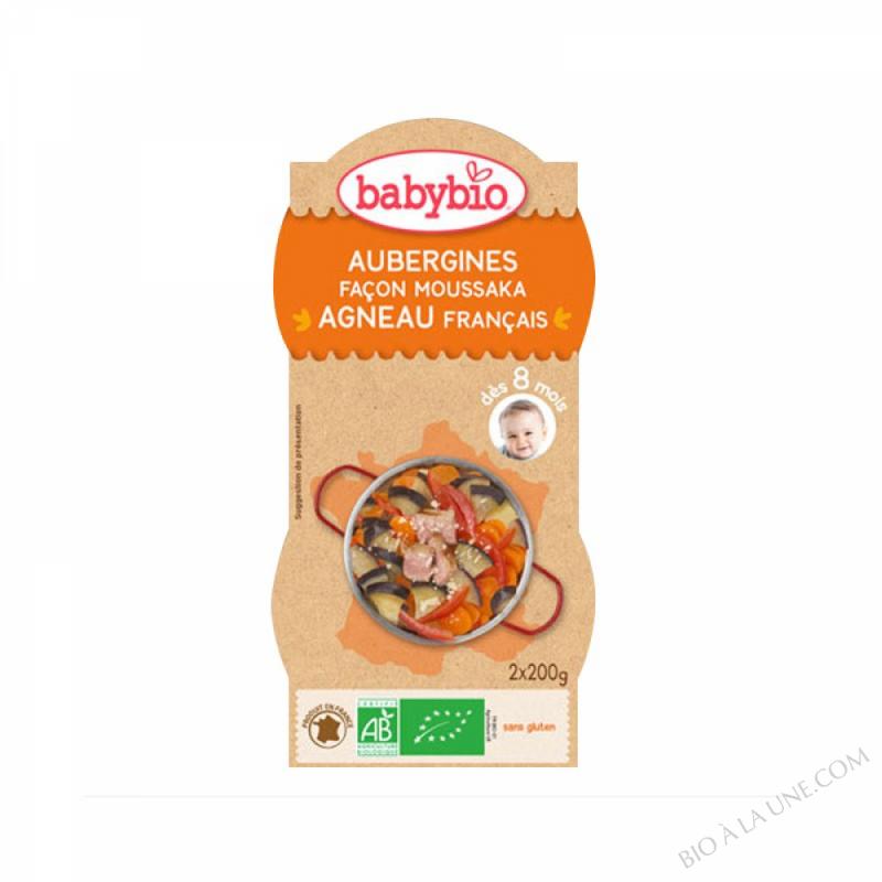 Bols Moussaka d'Agneau aubergines Dès 8 mois