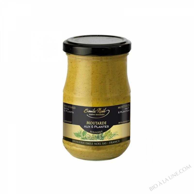 Moutarde aux 5 plantes bio - 200g