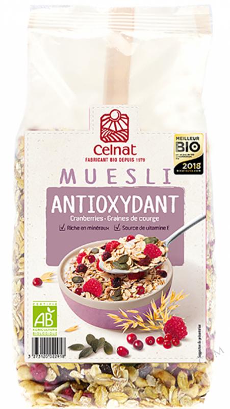 CELNAT Muesli Antioxydant Bio , cranberries & graines de courge- 375g