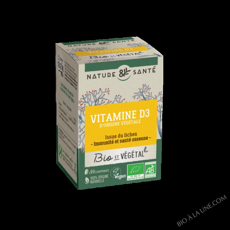 Bio & Vegetal - Vitamine D3 - 90 comprimés