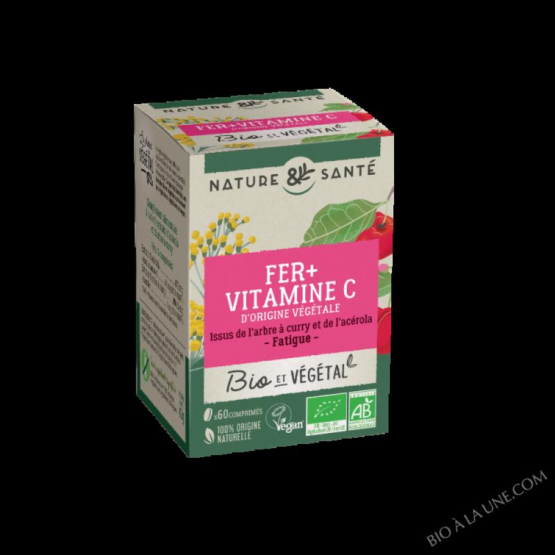 Bio & Vegetal - Fer + Vitamine C - 60 comprimés
