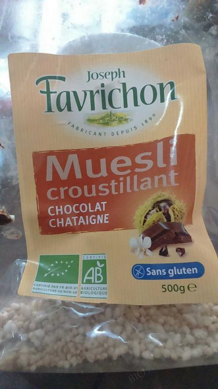Muesli Chocolat Châtaigne - Sachet de 500g