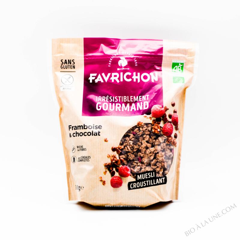 J.Favrichon Muesli croustillant framboise chocolat sans gluten Sachet refermable