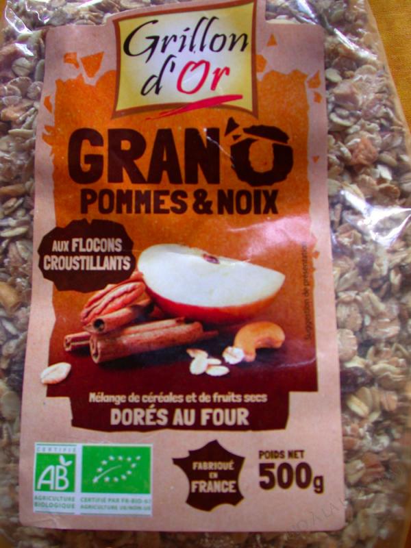 Muesli Gran'O Pommes et Noix 500g