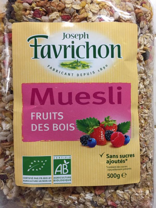 MUESLI FRUITS DES BOIS - 500 g