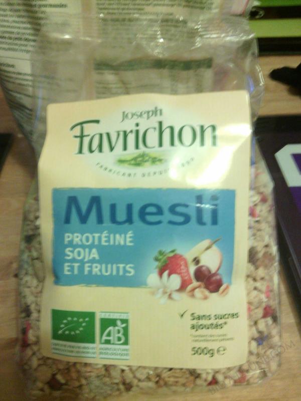 MUESLI PROTÉINÉ SOJA ET FRUITS - 500 g