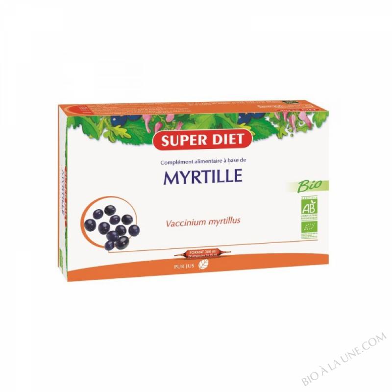 MYRTILLE AMPOULES 15ML (20) SUPER DIET